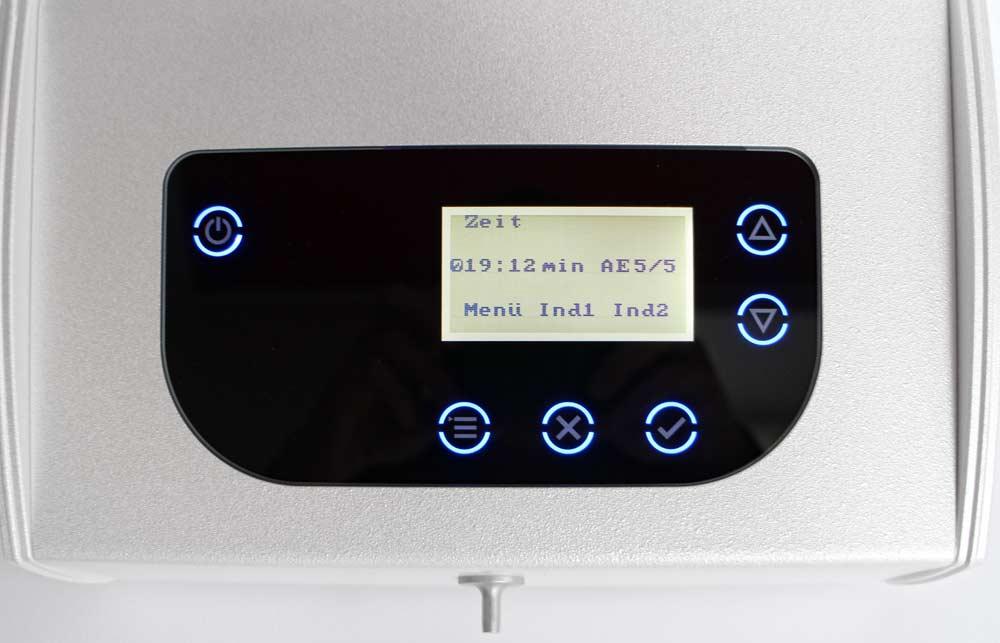 SET5: Großes LCD-Display für gute Lesbarkeit